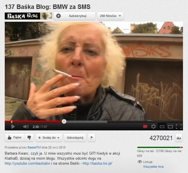 137 Baśka Blog BMW za SMS